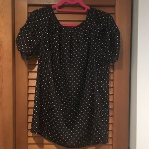Tie Neck Dot Blouse